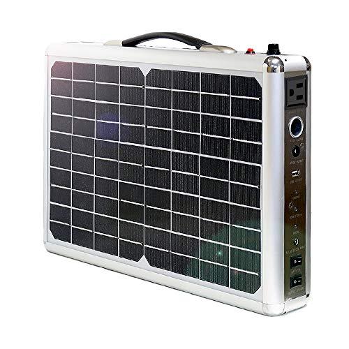 @NSS ソーラーパネル 一体型 ポータブル電源 大容量 300Wh 純正弦波 300W出力 20Wパネル搭載 ソーラーチャ...
