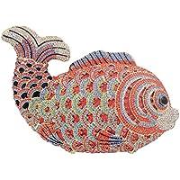 Evening-Bags Ladies Diamante Sequin Womens Purse-Clutch Luxury Chain Glitter Wedding Fish