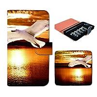 (ティアラ) Tiara プルームテック ケース ploom tech 専用 手帳型 カバー PHOTO 夕焼け カモメ 海 鳥 DP181020000001 ポスター 本体 充電器 たばこ カプセル 全部 収納 禁煙