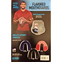 FLAVORED MOUTHGUARDS MULTI-SPORT UNISEX, FITS ALL AGES, FDA COMPLIANT BPA AND LATEX FREE by GOFLAV
