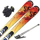 スキー4点セット SWALLOW 16-17 ROTACION QUEAIRS 156cm XPRESS 10 ストック115cm メンズグローブ ワクシング施工
