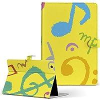 MediaPad T2 10.0 Pro Huawei ファーウェイ SIM MediaPad メディアパッド タブレット 手帳型 タブレットケース タブレットカバー カバー レザー ケース 手帳タイプ フリップ ダイアリー 二つ折り ユニーク 音楽 イラスト カラフル t210sim-004683-tb