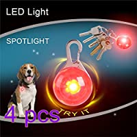 Yiteng  LED ペンダント 犬 猫ライト ペット用LEDライト 防水 猫犬の安全イト ステンレススチールカラビナ付き