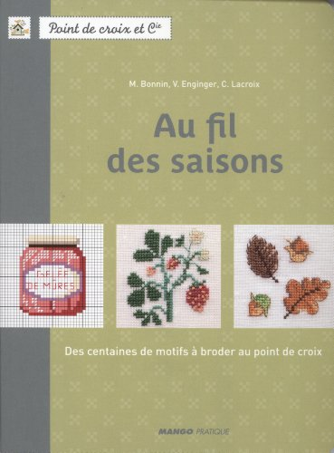 MANGO 「Au fil des saisons」 刺しゅう作品・図案集-フランス語