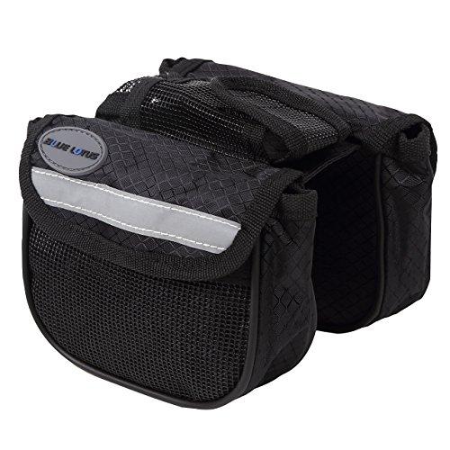 BLUE LOTUS 自転車用 フレームバッグ 携帯電話ポケット付 (黒)