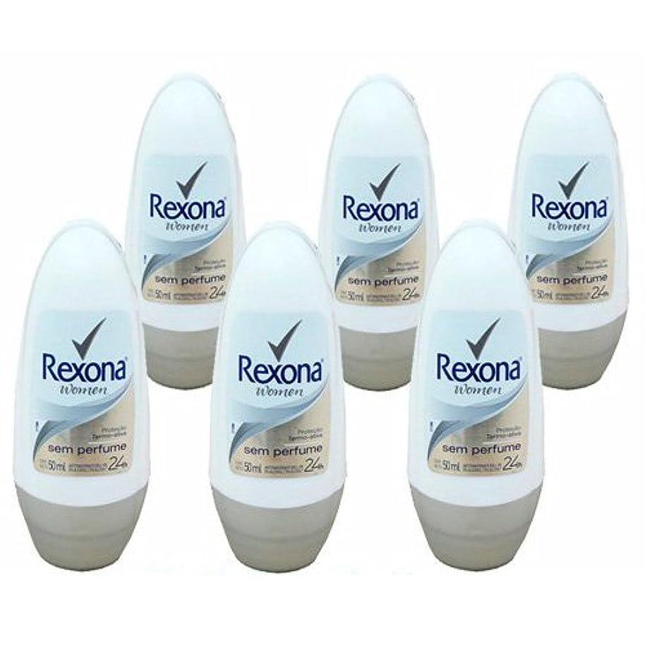 交換可能スパーク各デオドラント ワキ用 ロールオン Rexona ウーメン シン パフューム 無香料タイプ 50ml×6個セット