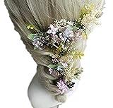 【J's select】ドライフラワー 花 フラワー 髪飾りヘアアクセサリー 花嫁 ブライダル 結婚式 ウェディング(3点セット)