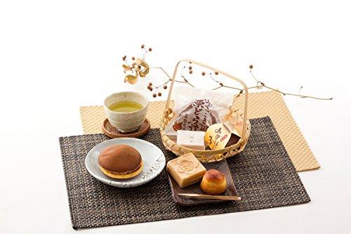 3店舗の銘菓詰合せ〔最中、栗饅頭、どら焼き 各5〕