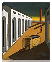 Giorgio De Chirico 伸びた ジクレー キャンバスに印刷-有名な絵画 美術品 ポスター -再生 壁の装飾 ハングする準備ができて(不明2)#NK