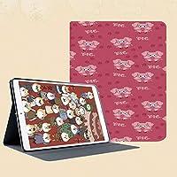 印刷者iPad Mini ケース クリア iPad Mini2 ケース レザー PU iPad Mini3 ケース 軽量 スタンド機能 傷つけ防止 オートスリープ ハード二つ折 装飾的なユーモアアートワークに向かって実行している挨拶を応援する正方形の漫画豚豚