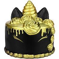 Oldeagle かわいい漫画ユニコーンケーキの香り 低反発圧力スクイーズ ストレス解消おもちゃ 子供と大人用 11x10cm ブラック 84374006