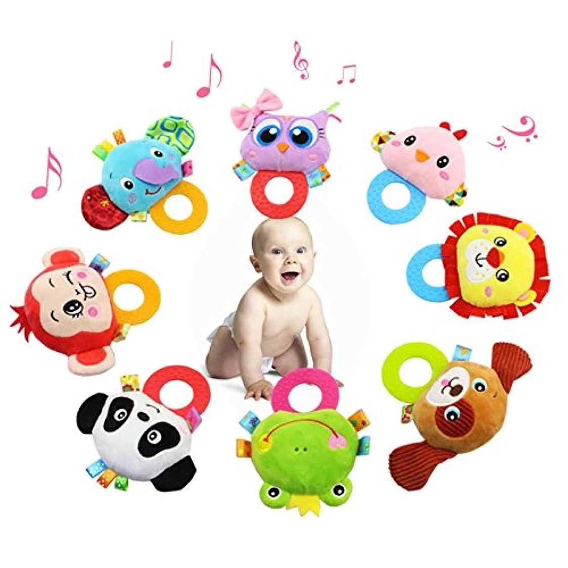 順応性のある安全性呼吸するLiebeye にぎる かむ歯固め 赤ちゃん おもちゃ ラトル 歯がため なめなめ ベビー おしゃぶり 0歳から 出産祝い 知育玩具 赤ちゃん おもちゃ ぬいぐるみ 象 猿 ライオン ラトル人形 幼児ギフト レッド