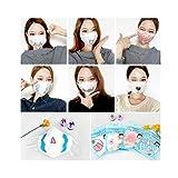 3重フィルター3D マスク/ 韓国オリジナルファッションマスク アニマルマスク かわいい表情白マスク (男女共用) (12)