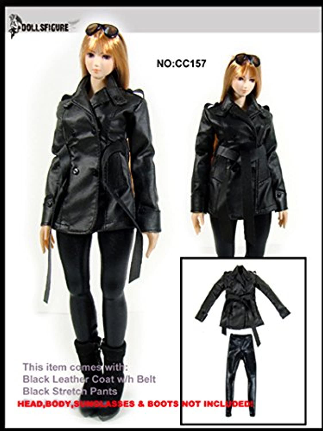 Artcreator_BM 1:6 DOLLSFIGURE Female Trendy Leather Coat,Pants Set(Ver.1)cc157