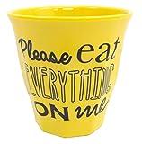Primal Designs プラスチックコップ タンブラー PLEASE EAT EVERYTHING ON ME レモンイエロー 280ml MP-452