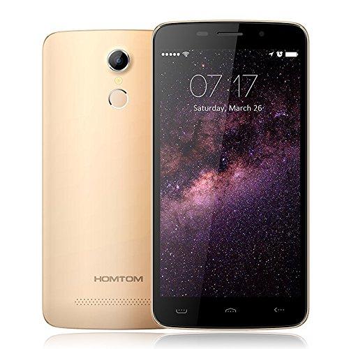 "HOMTOM HT17 スマートフォン 4G FDD-LTE 3G WCDMA Android 6.0 OS クアッドコア MTK6737 5.5"" Screen 1GB RAM 8GB ROM 5MP 13MP カメラ スマートジェスチャー 省電力モード 指紋認識 急速充電"