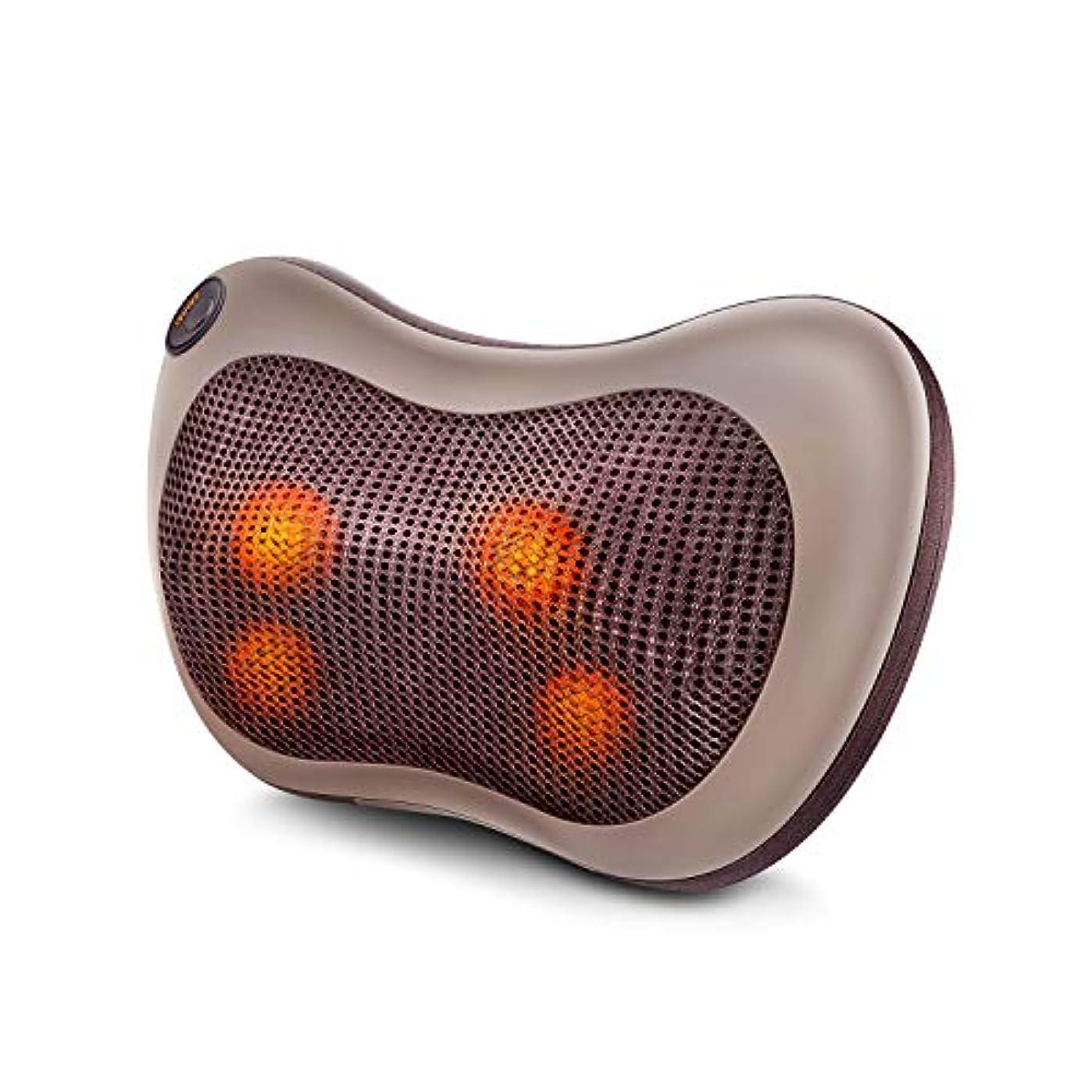 最少居心地の良い大声でマッサージ枕 マッサージ機 首マッサージ マッサージピロー マッサージクッション 自宅 オフィス 車載マッサージャー 加熱 3モード調節可能 過熱防止 日本語説明書付き
