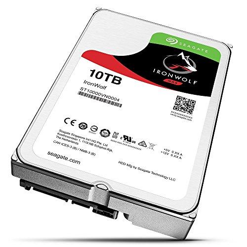 Seagate 内蔵ハードディスク 3.5インチ 10TB NAS サーバー ゲーム 映像編集向け IronWolf ( ヘリウム / SATA /3年保証 )正規代理店品 ST10000VN0004