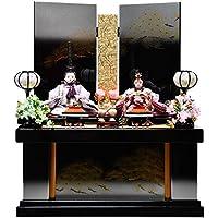 【雛人形 収納飾】芥子親王針松二曲収納飾:茉莉雛:伏見屋監修