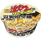 ★【さらにクーポンで30%OFF】マルちゃん 激めんワンタンメン 豆乳担々麺 102g×12個が特価!