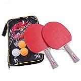 ブリスフェロウズ【Bliss Fellows】 卓球ラケットセット 持ち運びに便利なキャリーケース付き