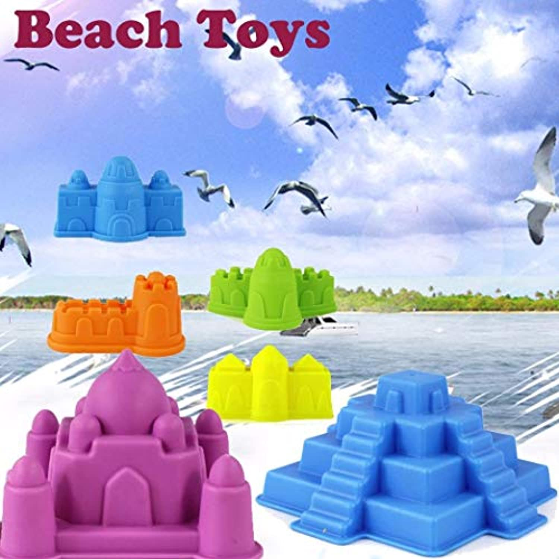 クリエイティブトイ スクイッシートイ 砂浜 城 6ピース キッズビーチ 城 ウォーターツール おもちゃ 砂遊び