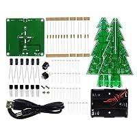 三次元3DクリスマスツリーLED DIYキット赤/緑/黄色RGB LEDフラッシュ回路キット電子ファンスイート3mm RGB高速LED