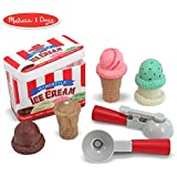 Melissa & Doug Scoop and Stack Ice Cream Cone Magnetic Pretend Play Set