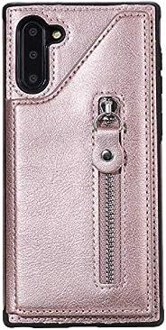 OMATENTI Galaxy Note 10 ケース, PUレザー 薄型 簡約風 人気 新品 バックケース Galaxy Note 10 用 Case Cover, 財布とコインポケット付き, 液晶保護 カード収納,