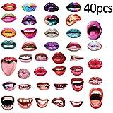 フォトプロップス 面白いリップ 唇 結婚式飾り付け 誕生日パーティー用撮影小道具 可愛い 40枚セット