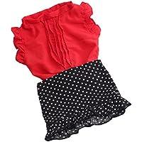 Lovoski ファッション 布製 人形服 Tシャツ トップス スカート ドレス 18インチアメリカガールドール人形用