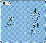 iPhone/Xperia/Galaxy/他機種選択可:サッカー/グラフィティ/へのへのもへじタッチ手帳ケース(デザイン:C_マンチェスター/21番_02) 03 iPhone6/6s