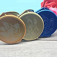 HuaQingPiJu-JP ミニラウンドメタルスモールガラスミラーサークルクラフト装飾化粧品アクセサリー