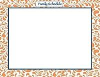 Fodeezフレームファミリースケジュールカレンダー冷蔵庫マグネット、タンジェリンオレンジ