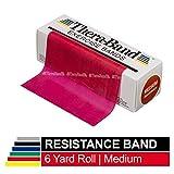 TheraBand セラバンド 赤 レッド ミディアム (強度:0) 標準サイズ(幅約 12.5cm × 長さ 5.5 m)
