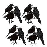 RAY-BAN Fenteer 12個 ブラック フォーム カラス 鳥 レイバンズ ハロウィン 装飾 小道具