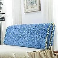 ベッド背もたれクッションベッドクッションベッドボード枕(ヘッドボードなし)ブレンドファブリック大きな柔らかい枕の腰のサポート取り外し可能で洗濯可能5色無色7サイズあり (色 : Blue, サイズ さいず : 190 * 58 * 10cm)