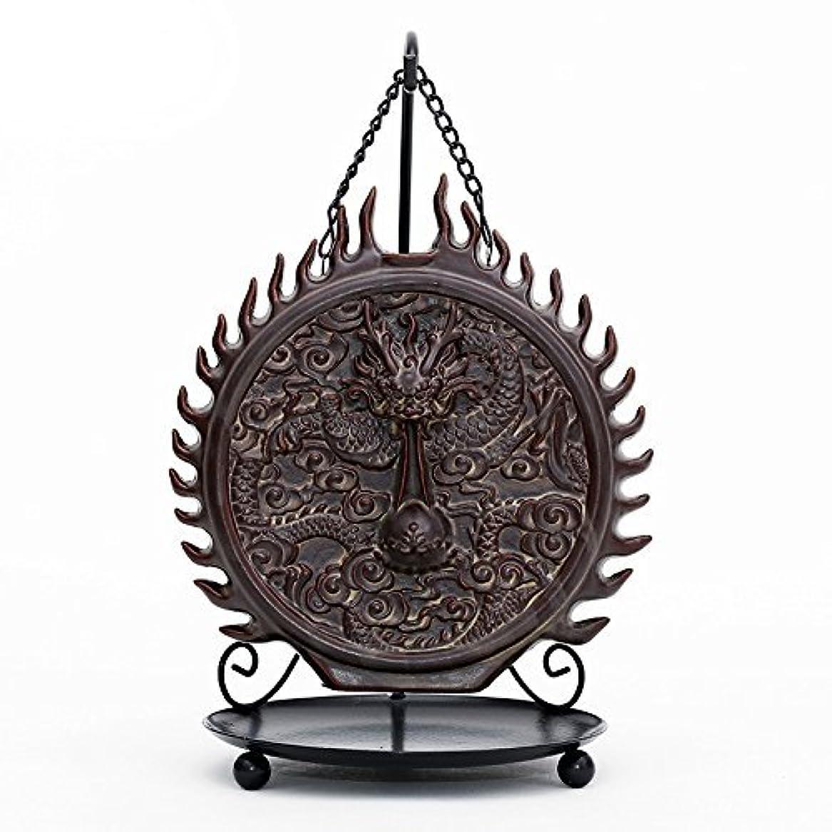幅時計あなたのもの倒流香 香炉 お香ホルダー 流川香 香炉用品 セラミック 置物 陶芸 開運 風水 ハンギングドラゴン