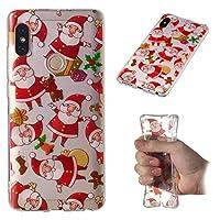 Happon Redmi Note 5 Pro スリム シェル, 薄いです 保護 カバー, パウチ Redmi Note 5 Pro, TPU シェル スクラッチ耐性 耐久性のある 弁護者 緩衝器 (Santa)