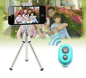 【ノーブランド品】【2014モデル】IOS Android通用ワイヤレス リモートシャッター 簡単接続 自由なカメラリモコンBluetooth Shutter Remoteブラック対応