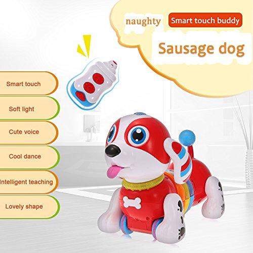 Goolsky CANHUIトイズBB396 ラジコンロボット犬 電子ペット 知育玩具 歌う 踊る 歩く