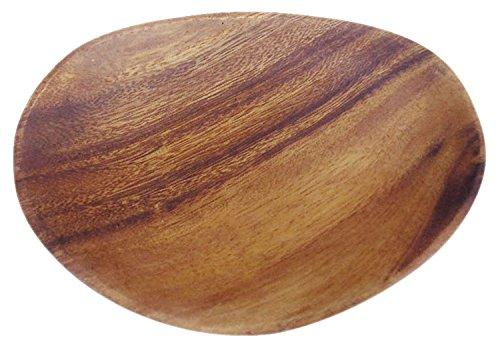木製 食器 トレー お皿 エッグ アカシア 17.8*12.7*H2.5cm