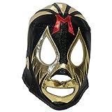 仮面貴族 ミル・マスカラス 試合用マスク ブラック×ゴールドトレード