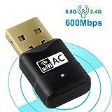 slicemall長い範囲USB WiFiアダプタ高利得アンテナワイヤレスネットワークデュアルバンドアンテナ1200Mbps ( 5ghz 866Mbps 2.4GHz 300Mbps )サポートWindows XP / 7/ 8/ 10/ Mac / Linux 1200Mbps CD-02