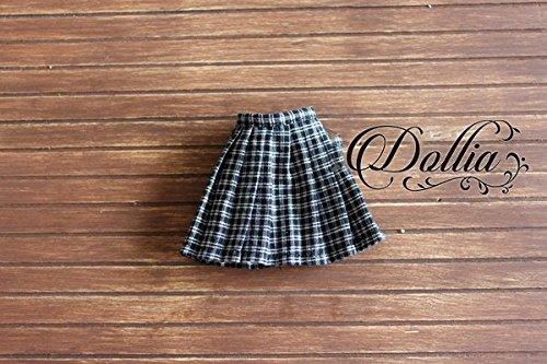 (ドーリア)Dollia ブライス 1/6ドール用 アウトフィット 学生 チェックスカート 学校 ネオブライス ドール 人形 (ブラック)