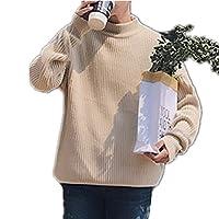 YOJAP メンズ ニットセーター セーター 長袖メンズ ニットセーター 爽やか 着心地 デザイン カジュアル おしゃれ 丸ネック セーター ストレッチ シャツ 暖かいニットセーター