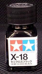 タミヤカラー エナメル X-18 セミグロスブラック