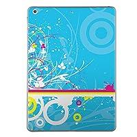 第2世代 第3世代 第4世代 iPad 共通 スキンシール apple アップル アイパッド A1395 A1396 A1397 A1416 A1430 A1403 A1458 A1459 A1460 タブレット tablet シール ステッカー ケース 保護シール 背面 人気 単品 おしゃれ ユニーク 花 フラワー 水色 ペンキ 007712