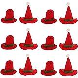 Blesiya サンタの帽子スタイル ワインボトルカバー トッパーカバー クリスマス 食卓 デコレーション オーナメント 12個入り
