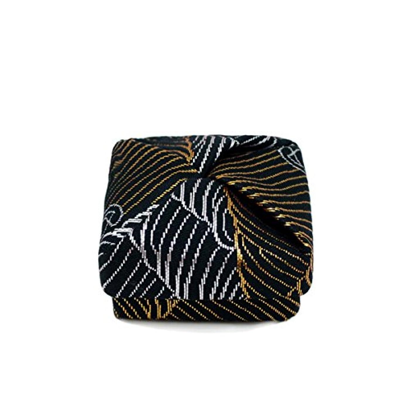 部族砂の排泄物布香合‐角‐ 紙箱入 波 黒